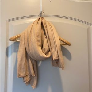 Camel colored lightweight scarf